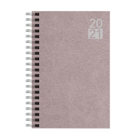 """Ημερήσιο Ημερολόγιο Σπιράλ 2021 """"Terra"""" 12x17cm Μπεζ Σκούρο"""