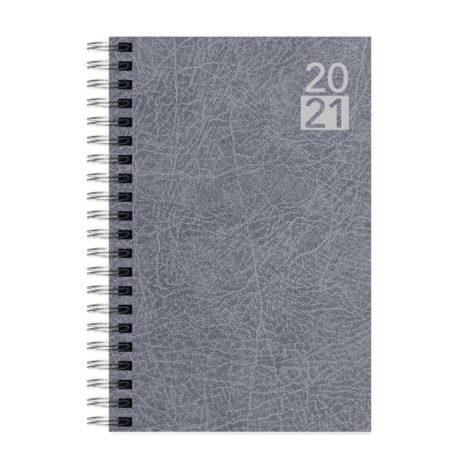 """Ημερήσιο Ημερολόγιο Σπιράλ 2021 """"Terra"""" 12x17cm Γκρι"""