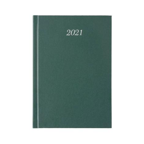 """Ημερήσιο Ημερολόγιο 2021 """"Classic"""" 12x17cm Σκούρο Πράσινο"""