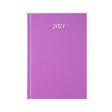 """Ημερήσιο Ημερολόγιο 2021 """"Classic"""" 17x24cm Μωβ"""