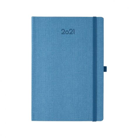 """Ημερήσιο Ημερολόγιο 2021 """"Tweed"""" Μπλε Ανοιχτό"""