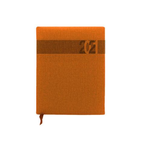 """Ημερήσιο Ημερολόγιο 2021 """"Thermo"""" 17x25cm Πορτοκαλί"""