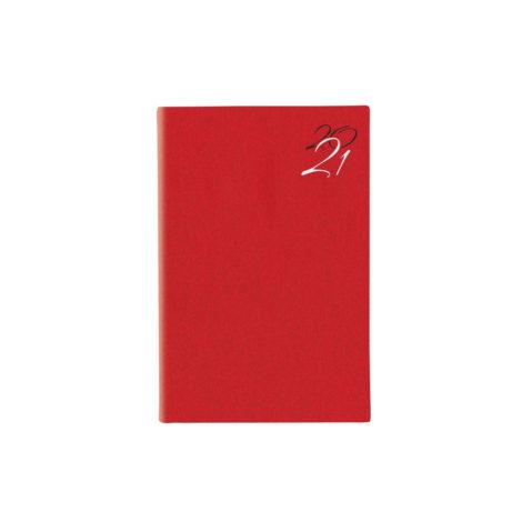 """Ημερήσιο Ημερολόγιο 2021 """"Jeans"""" 11x16cm Κόκκινο"""