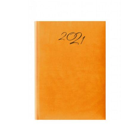 """Ημερήσιο Ημερολόγιο 2021 """"Wall"""" 14x21cm Πορτοκαλί"""